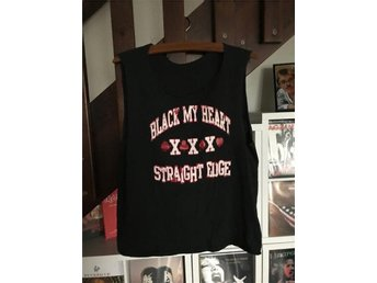 Black My Heart linne (medium) (Hardcore Punk Metal Straight Edge SXE)