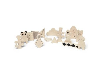 Liewood Wooden Friends Natur