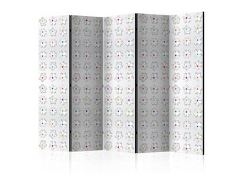 Rumsavdelare - Room divider – Colorful flowers II 225x172