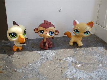 3 st Pet Shop figurer PetShop