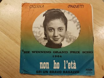 "Gigliola Cinquetti - Non ho létà ""The winning Grand Prix song 1964"""
