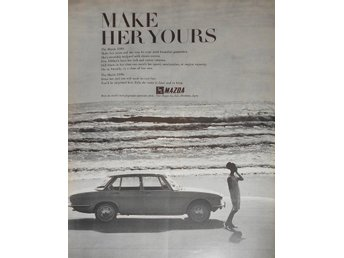 MAZDA - MAKE HER YOURS TIDNINGSANNONS Retro 1968