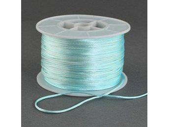 Nylontråd/rattail 1 mm pale turquoise 10 meter - Stora Sundby - Nylontråd/rattail 1 mm pale turquoise 10 meter - Stora Sundby