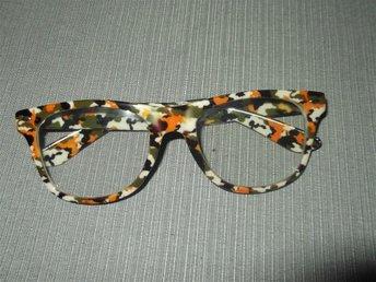 Retro Style Glasögon med klart glas, med multifärgade bågar - ängelholm - Retro Style Glasögon med klart glas, med multifärgade bågar - ängelholm