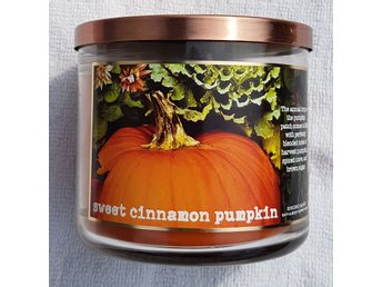 SWEET CINNAMON PUMKIN Bath & Body Works 3-wick Candle doftljus 3-veks doft USA