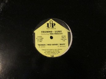 "TECHNO-LUST - WOMAN / WILD SAFARI / BEATS (12"") FRED PRESCOTT"