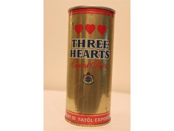 Three Hearts Export Beer guldfärgad botten