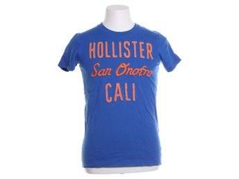 Hollister, T-shirt, Strl: S, Blå/Orange