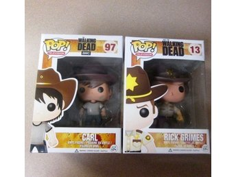 Pop! Funko 2 st. walking dead #13 #97 Carl & Rick Grimes