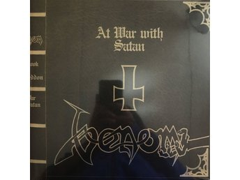 VENOM - AT WAR WITH SATAN 2-LP 180G RÖD VINYL LIMITED GATEFOLD