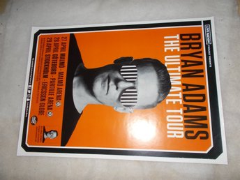 Bryan Adams turnéposter