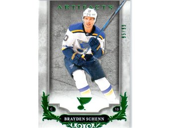 2018-19 Artifacts 69 Brayden Schenn St. Louis Blues Emerald 95/99