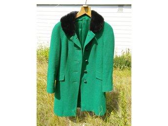 Vintage retro grön kappa 60 tal stl S