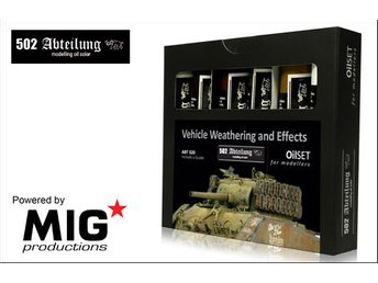 MIG Productions Abteilung 502 - Vehicle Weathering Oil Set - Skoghall - MIG Productions Abteilung 502 - Vehicle Weathering Oil Set - Skoghall