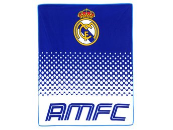 Real Madrid Fade Filt 125 x 150 cm  Fleecefilt