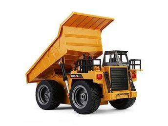 HUINA 1540 1:12 2.4G 6CH RC Alloy Dump Truck Auto Demonstration Function