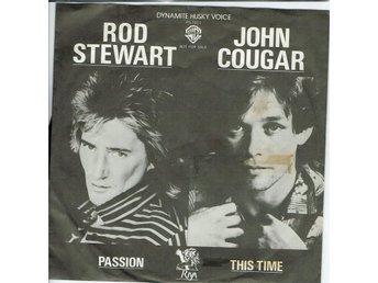 ROD STEWART JOHN COUGAR 7'' - Passion, Japan -80, Promo PS - Jönköping - ROD STEWART JOHN COUGAR 7'' - Passion, Japan -80, Promo PS - Jönköping
