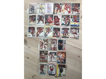 Nicklas Lidström LOT! 27st hockeybilder Hockeykort samlarkort Detroit red wings