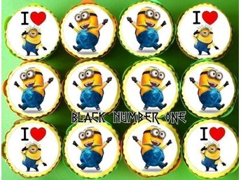 MINIONS tårtoblater - Cake / Muffin toppers