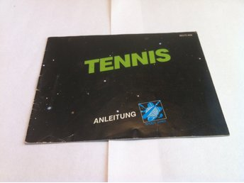 NES: Manualer: Tennis (End. manual -Tysk)