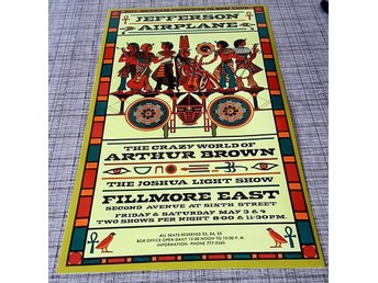 JEFFERSON AIRPLAINE FILLMORE EAST 1969 PHOTO POSTER