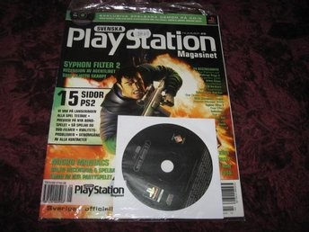 PLAYSTATION MAG NR 29 MAJ 2000 MED CD SKIVA (SYPHON FILTER 2) NY INPLASTAD