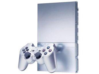 Playstation 2 Slim Basenhet Silver - Playstation 2 - Varberg - Playstation 2 Slim Basenhet Silver - Playstation 2 - Varberg