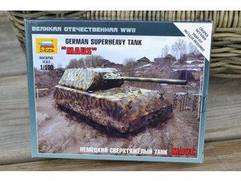 "German Superheavy Tank ""Maus"" 1:100 Zvezda (Pansarvagn, Tysk) Ny - Vännäs - German Superheavy Tank ""Maus"" 1:100 Zvezda (Pansarvagn, Tysk) Ny - Vännäs"