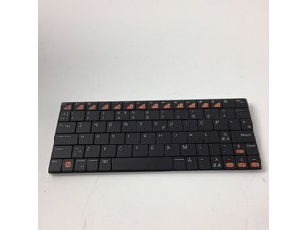 Biltema Tangentbord Blutetooth 3.0 Keyboard Svart/Orange