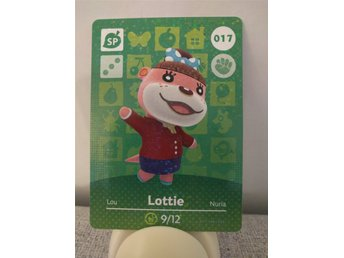 Animal Crossing Amiibo Welcome Amiibo card nr 017 Lottie
