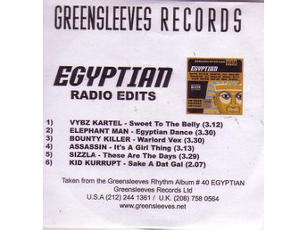 Egyptian Radio Edits / 6-låtars officiell promo CDr