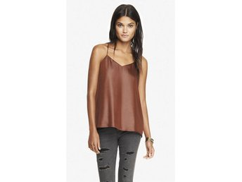 EXPRESS linne, topp, imitationsläder, brun - Stockholm - EXPRESS linne, topp, imitationsläder, brun - Stockholm