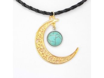 Turkos Måne Halsband / Turquoise Moon Necklace