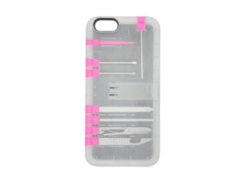 Multi tool case - iPhone 6/6s/7 (Rosa/transparent)