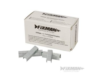 Fixman 10J Galvanised Staples 5000pk 11.2 x 12 x 1.16mm