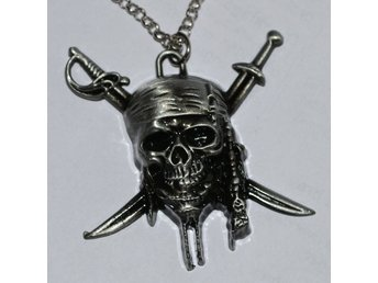 Död Pirat, Döskalle fr. Pirates of the Caribbean Halsband Metall (Smycke) Ny