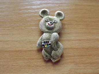 Ryssland badge medalj USSR pins 1980 Olympic Bear 7.