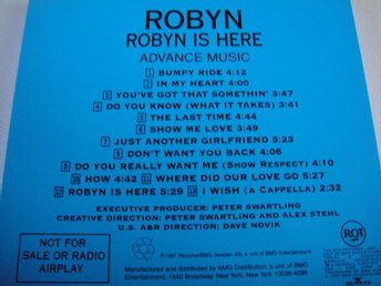 ROBYN Robyn is here PROMO CD NYSKICK!!! RARITET