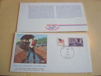 Gold Rush 1979 USA kuvert + original vykort