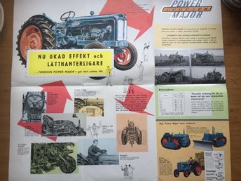 Traktor Fordson Major  broschyr