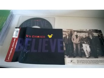 K's Choice - Believe, single CD, promo stämplad