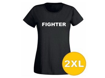 T-shirt Fighter Svart Dam tshirt XXL