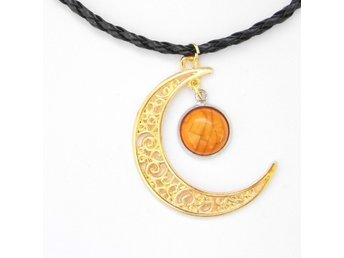 Orange Måne Halsband / Moon Necklace