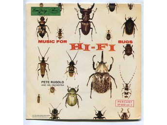 "Pete Rugolo -Music for hi-fi bugs 7"" Sweden Metronome"