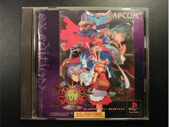 Vampire Savior: The Lord of Vampire ( Darkstalkers 3) till Playstation -Japanskt