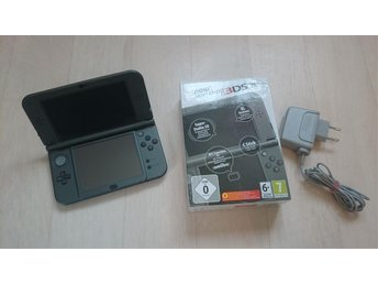 Svart New Nintendo 3DS XL konsoll men laddare