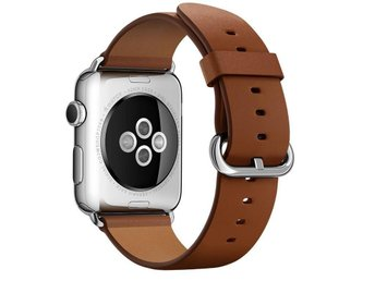 Classic Buckle 42mm Apple Watch Armband - (BROWN) - Ljungby - Classic Buckle 42mm Apple Watch Armband - (BROWN) - Ljungby