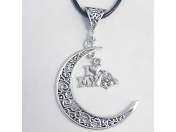 Love my dog måne halsband / Love my dog moon necklace