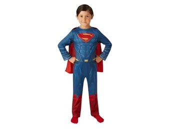 SUPERMAN 110/116 cl (5-6 år) Dräkt med kappa DAWN OF JUSTICE