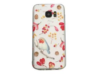 Samsung Galaxy S7 EDGE Blommor och Rödhake Fågel - Henna - Mjölby - Samsung Galaxy S7 EDGE Blommor och Rödhake Fågel - Henna - Mjölby